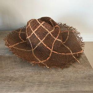 Gap Straw Patterned Cowboy Hat